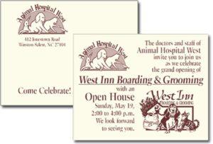 Animal Hospital West Open house invitation