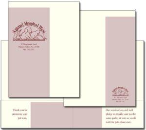 Animal Hospital West Pocket folder
