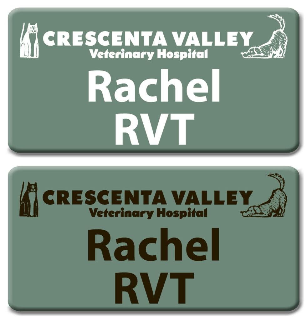 Crescenta Valley Veterinary Hospital Nametags