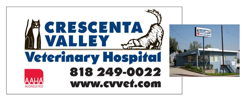 Crescenta Valley Veterinary Hospital Sign