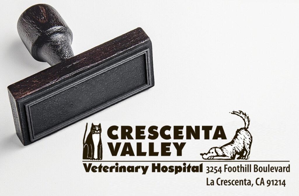 Crescenta Valley Veterinary Hospital Rubber stamp
