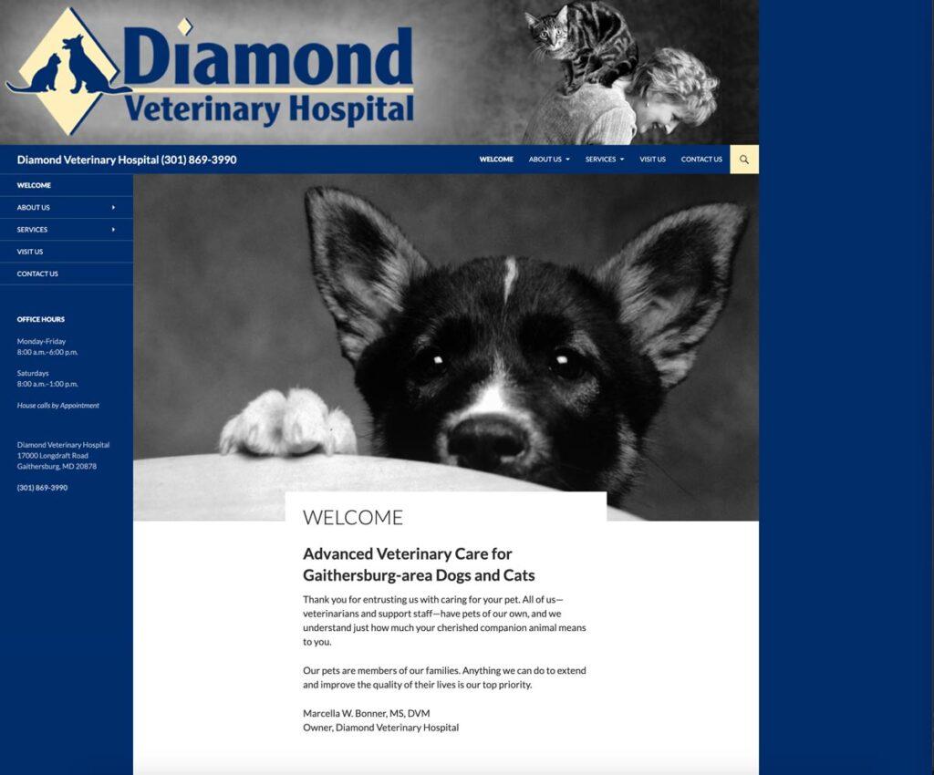 Diamond Veterinary Hospital Revised website