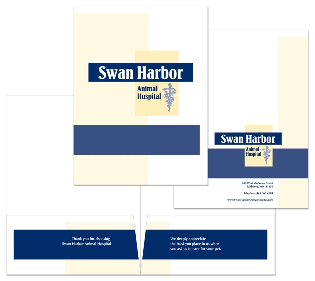 Swan Harbor Animal Hospital Pocket folder