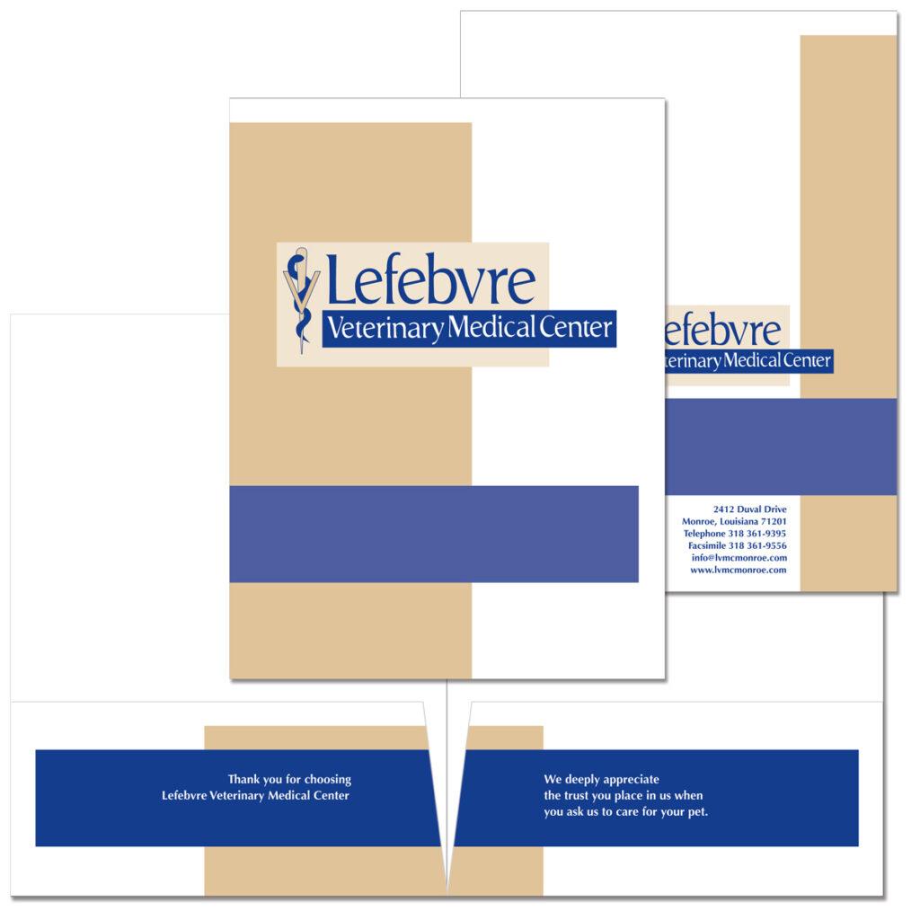 Lefebvre Veterinary Medical Center Pocket folder