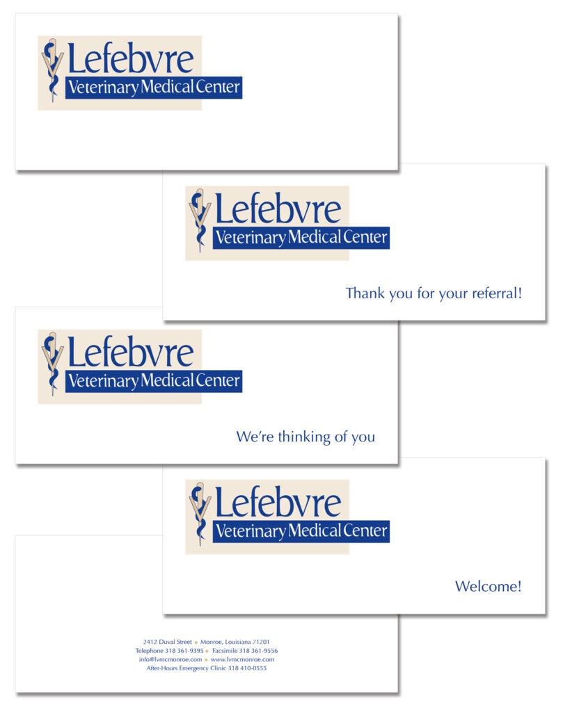 Lefebvre Veterinary Medical Center Greeting cards