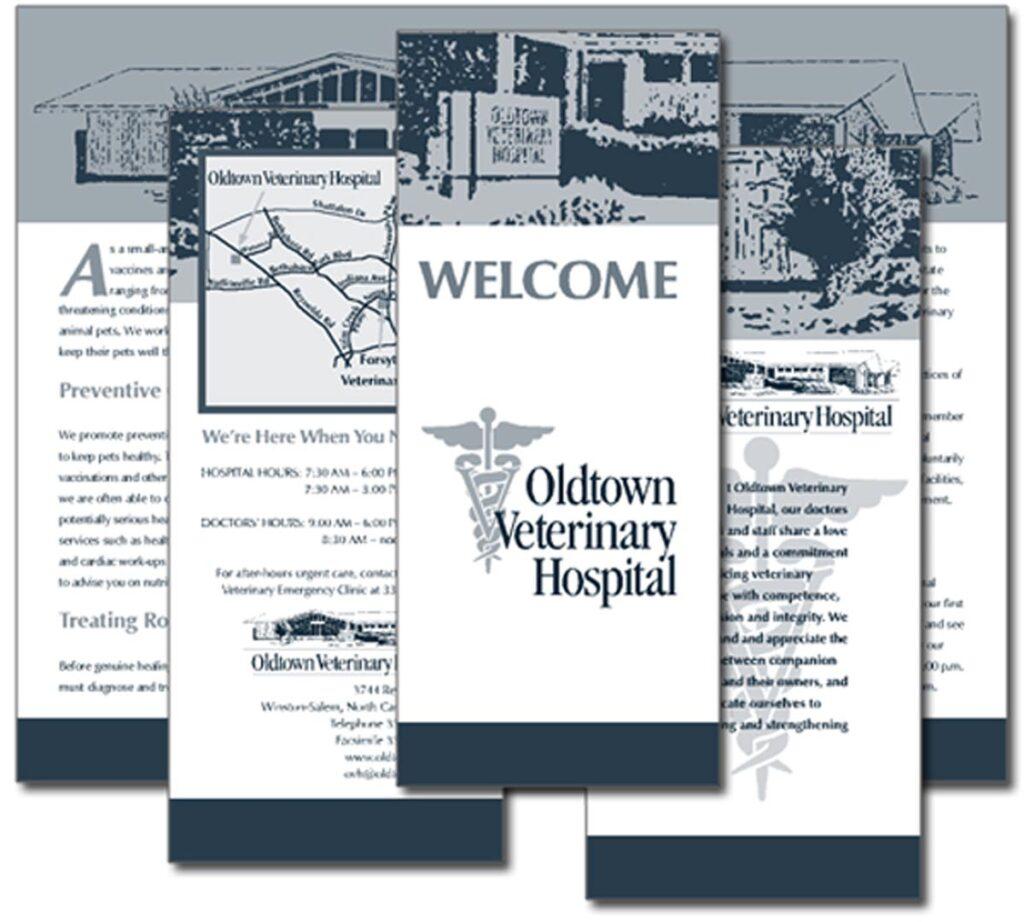 """Oldtown Veterinary Hospital """"Welcome"""" brochure"""