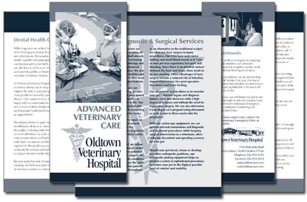 "Oldtown Veterinary Hospital ""Advanced Veterinary Care"" brochure"