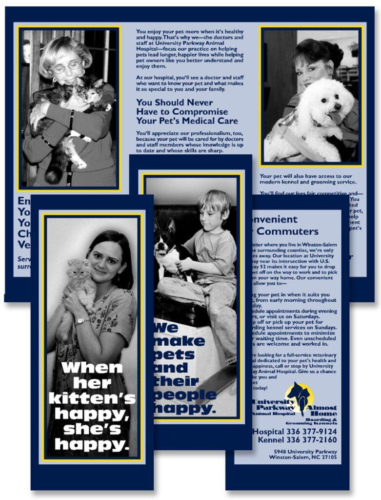 "University Parkway Animal Hospital ""When Her Kitten's Happy, She's Happy"" brochure"